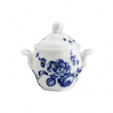 Richard Ginori Rose Blue Sugar Bowl with Cover 490cc
